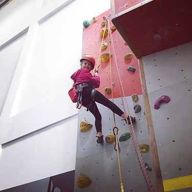 home education indoor climbing