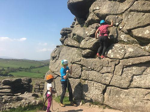 Home education rock climbing