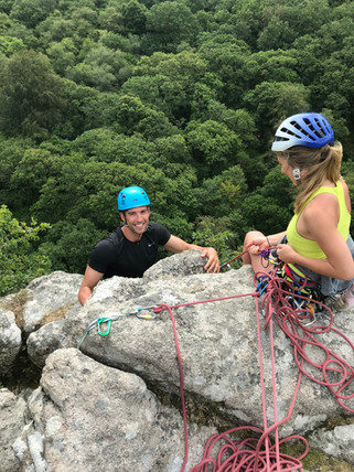 Guided Multipitch Rock Climbing