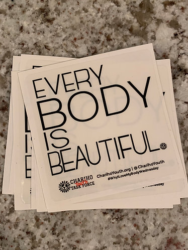 Every Body Is Beautiful Sticker - CLEAR