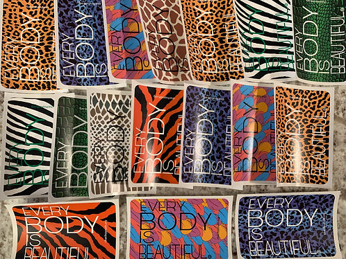 Every Body Is Beautiful Sticker - Animal Print