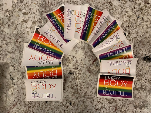 Every Body Is Beautiful Sticker - PRIDE EDITION
