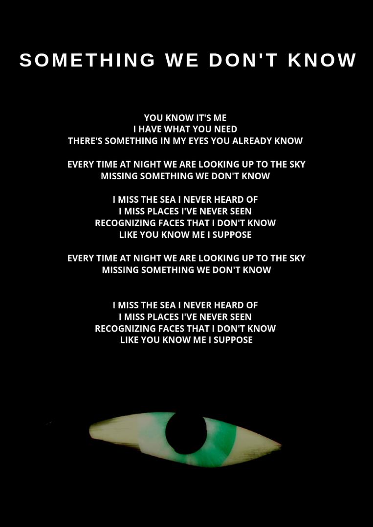 Something We Don't Know - Awake Album