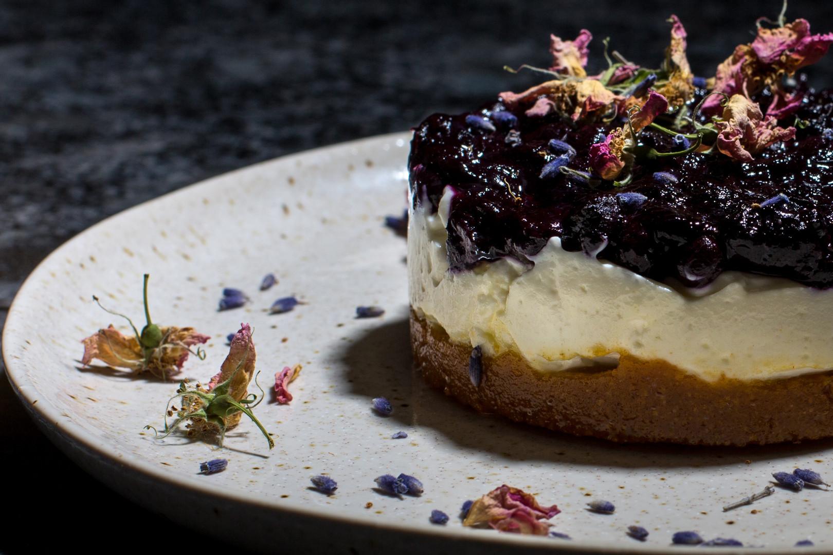 Kokum's Blueberry Cheesecake