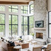 Modern Lake House_ Living Room Tour - St