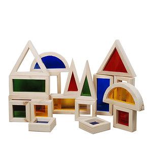 Coloured Window Building Block 18 pc Set