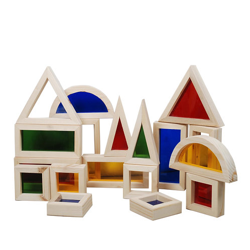 Coloured Window Building Block 18 pc Set