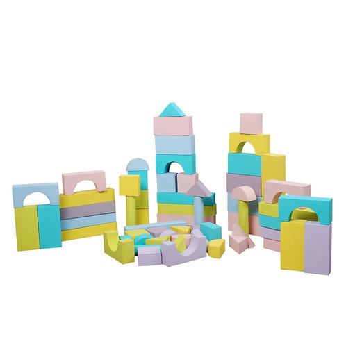 Pastel Building Blocks - 64 pc set