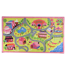 Around the Town Play Rug - Pink