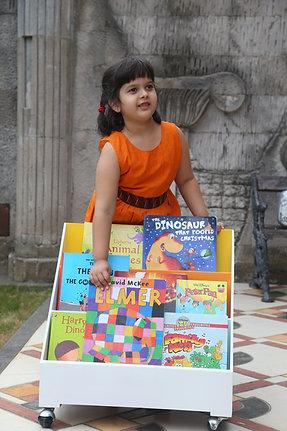 Kids Bookshelf on Wheels