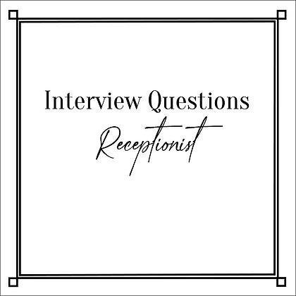 Interview Question Receptionist