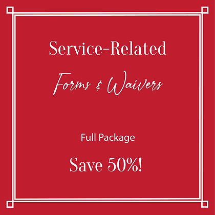 Service-Related Forms & Waivers Full Package Save 50%