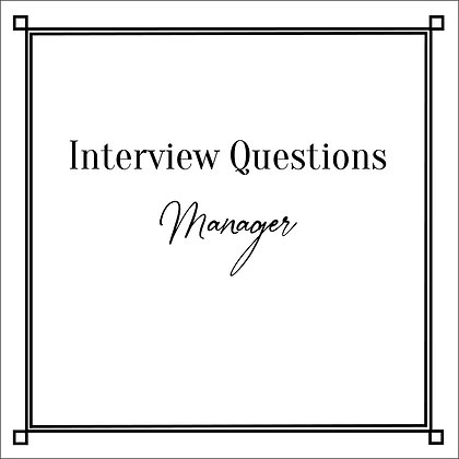 Interview Questions Manager