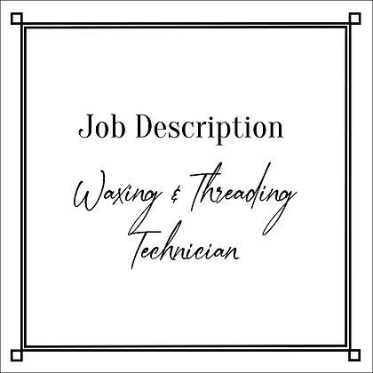 JD_Waxing & Threading Technician