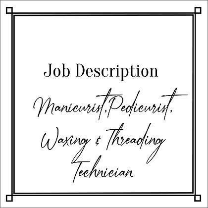 JD_Manicurist, Pedicurist+Waxing_Threading Technician