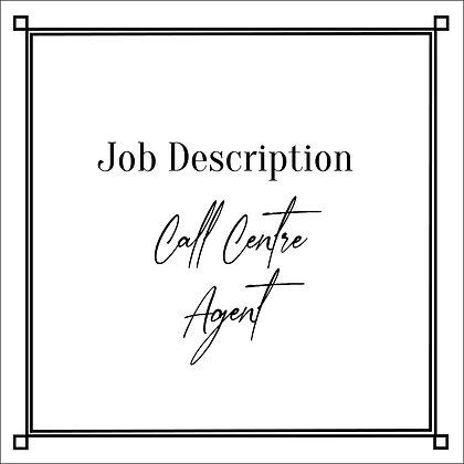 JD_Call Centre Agent