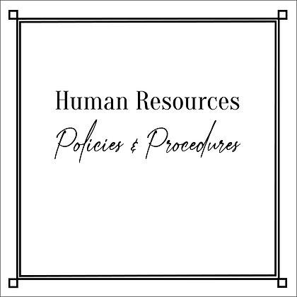 Human Resources Policies & Procedures