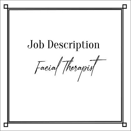 JD_Facial Therapist