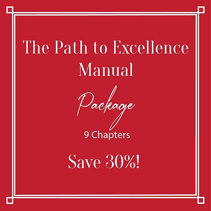 The Path to Excellence Manual Full Package Save 30%
