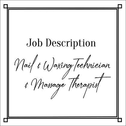 JD_Nail&Waxing Technician&Massage Therapist
