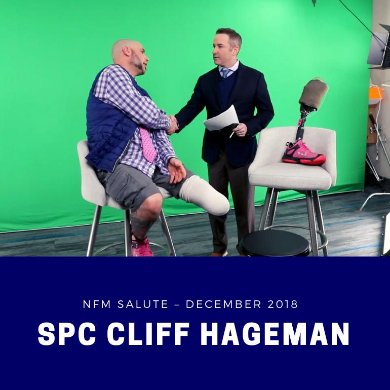 NFM Salute for December 2018 - SPC Cliff Hageman