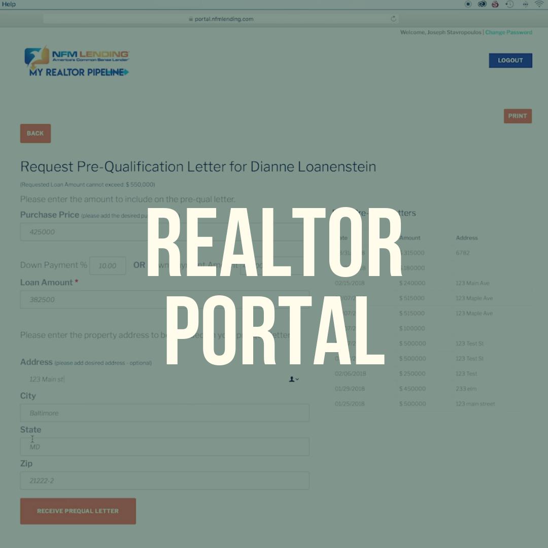 Tech Central – NFM Lending Realtor Portal