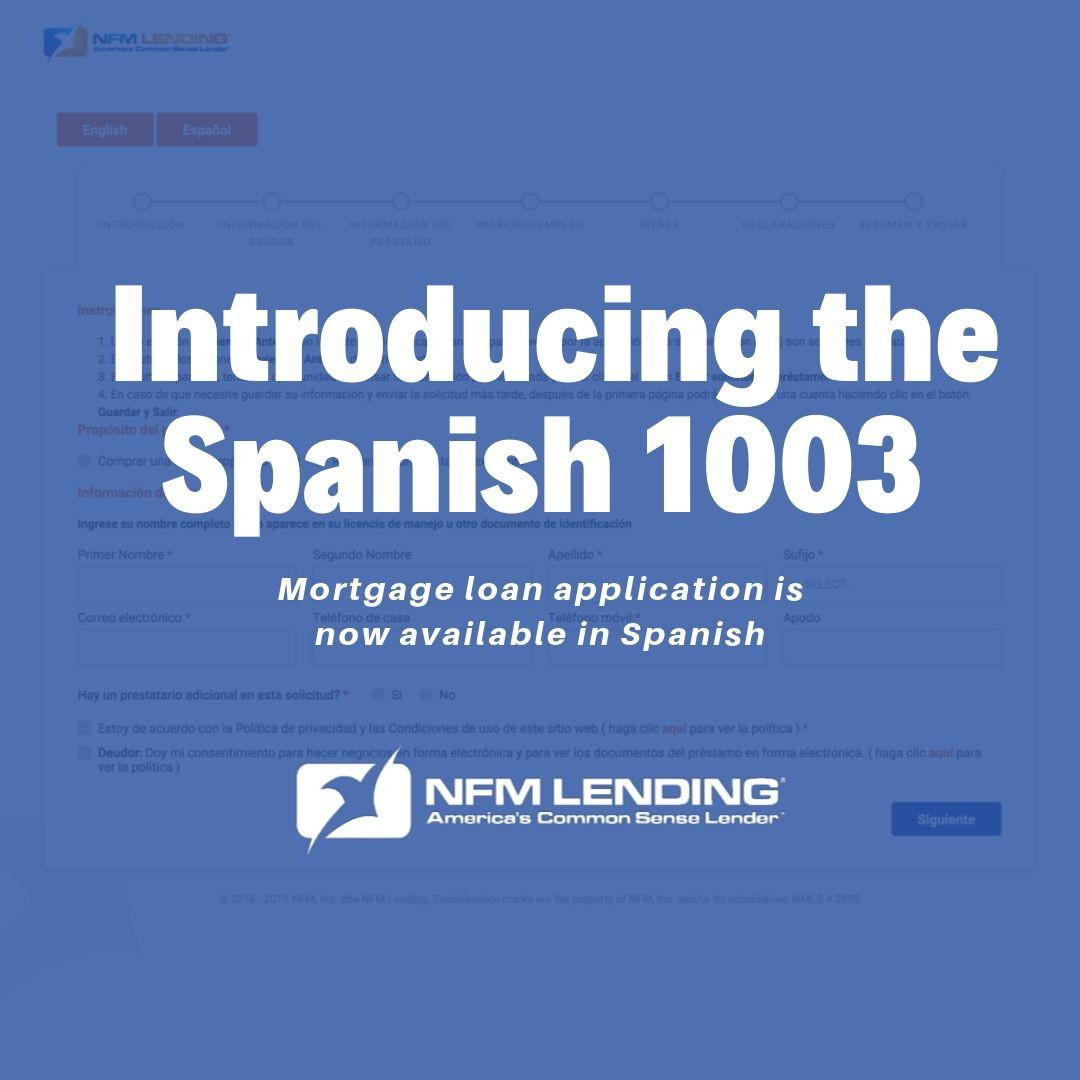 Introducing the Spanish 1003 Mortgage Application