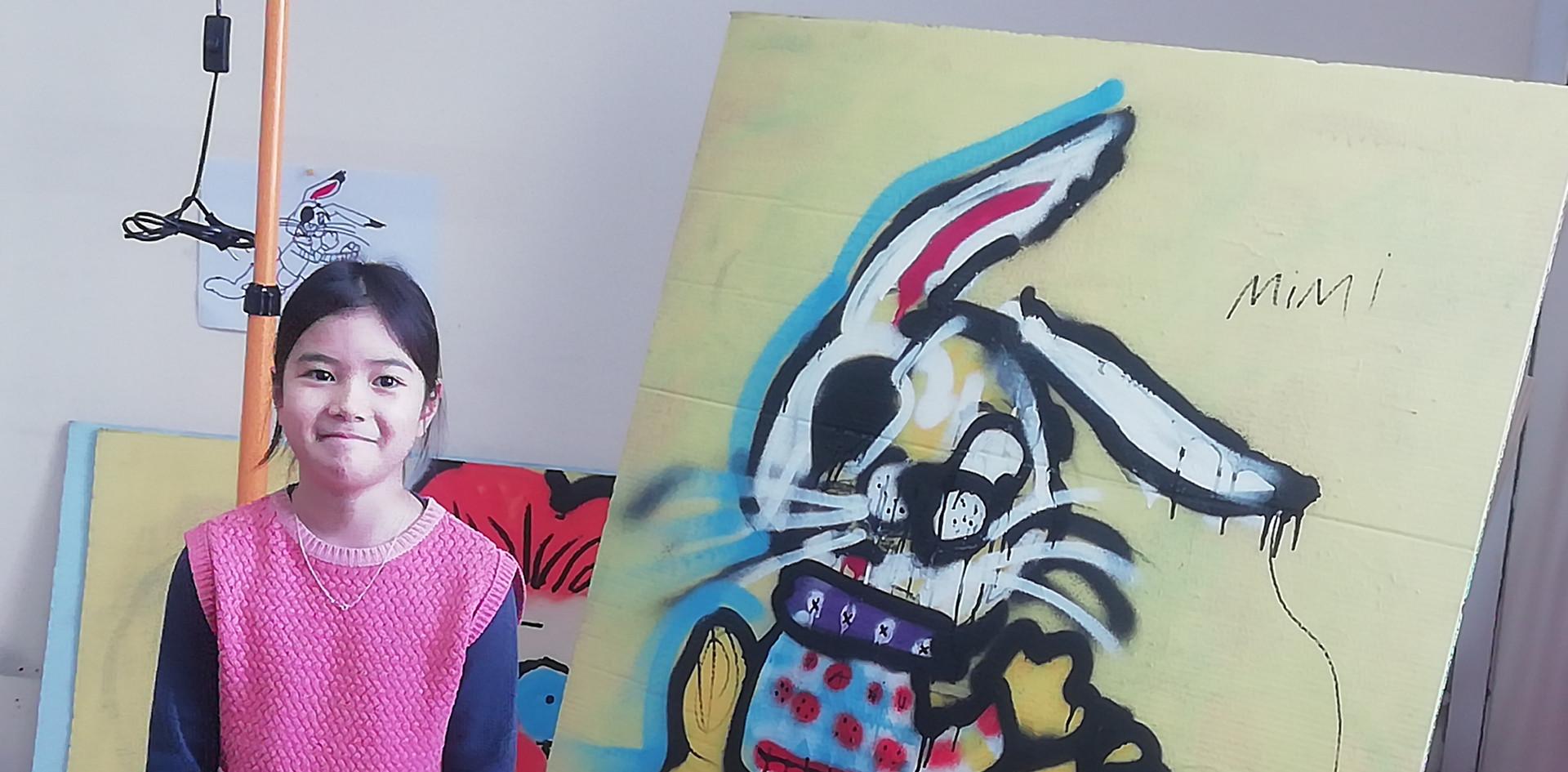 Граффити заяц
