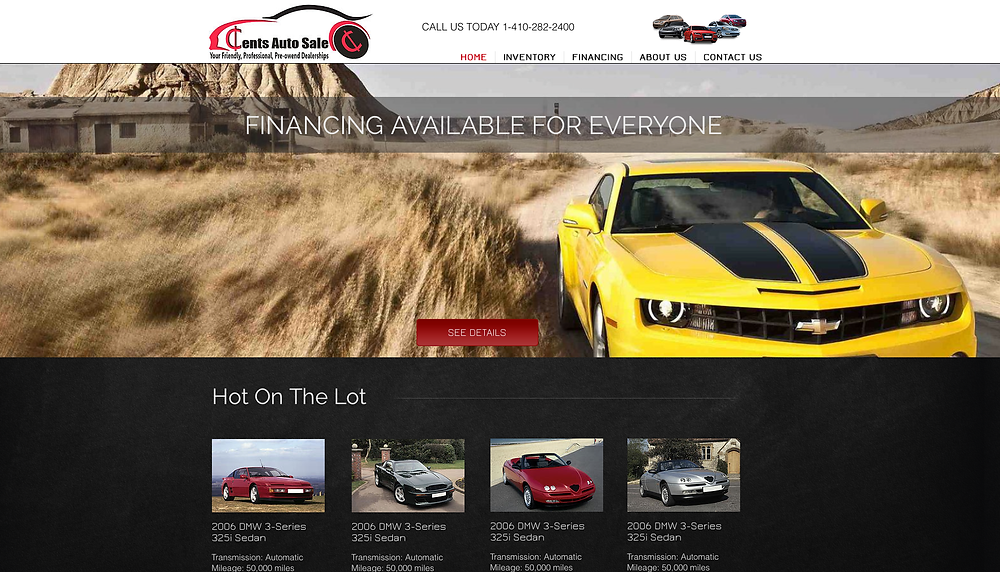 auto body shop website design