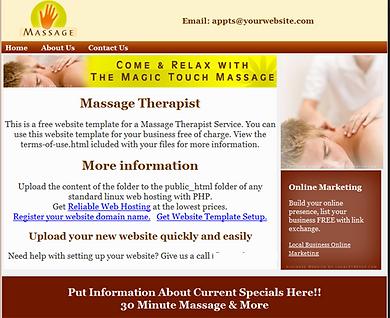 Massage website design