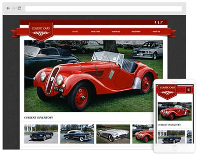 parts distributor website design
