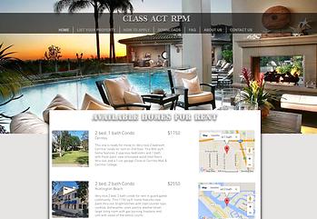 Rental Home web design