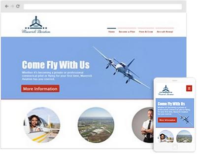 Flight School Web Design