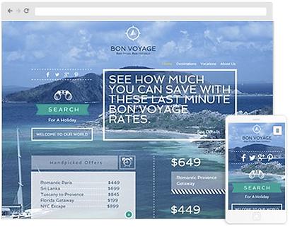 Travel web design