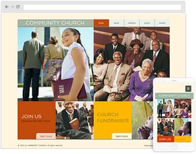 religious web design
