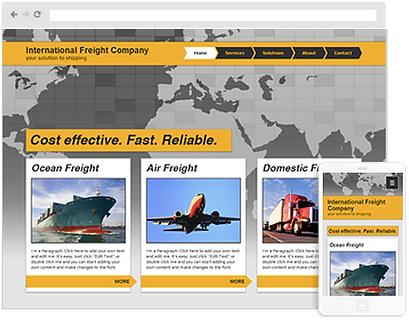 transportation web design