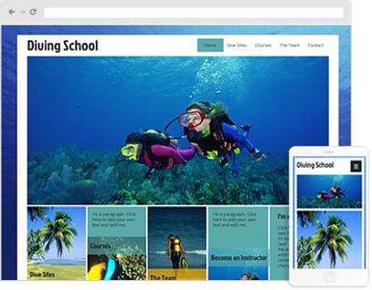Scuba DivingWeb Design