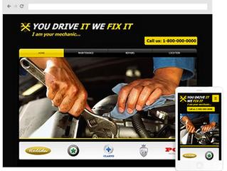 How to create auto repair website design