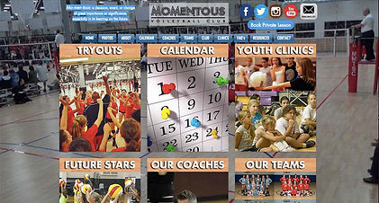 Volleyball Club web design