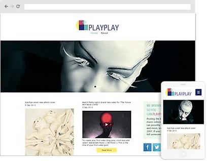 Music website design