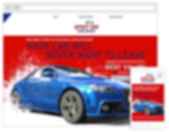 car club website design