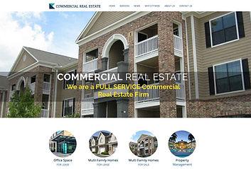 Commercial properties web design