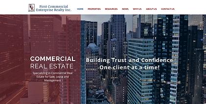 commercial property web design