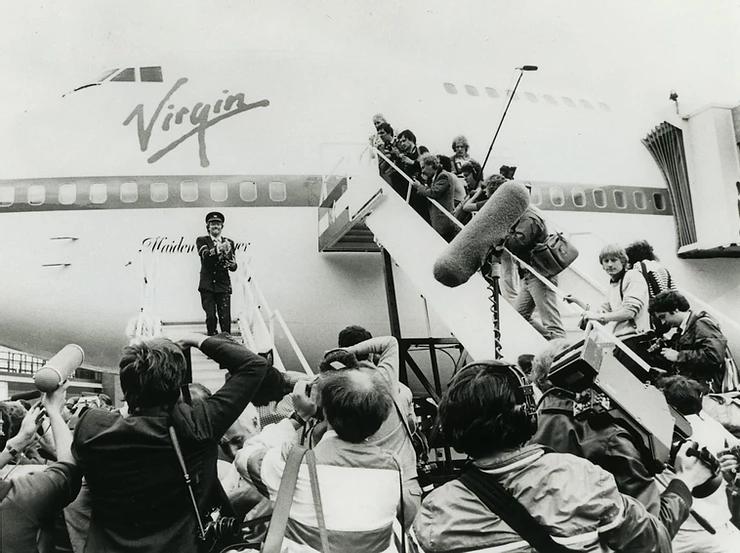 Virgin Atlantic's inaugural flight to New York