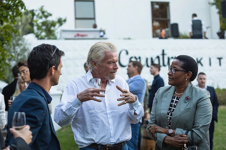 Richard Branson with Wesley Noble and Judge Bess