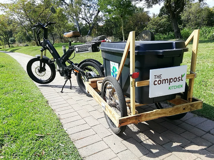 Home organic waste collection electric bike