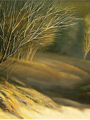 """""""Claire-Obscure"""" Oil on Canvas, 42"""" x 96"""" 2011"""