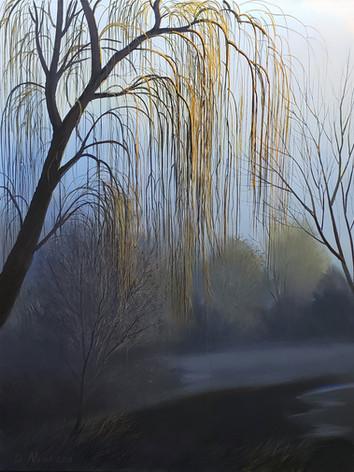 """Mystic Blue"" Oil on Canvas 56"" x 44"" 2013"