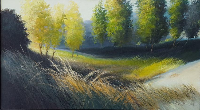 """Dune Series"" Oil on Canvas, 20"" x 32"" 2015"