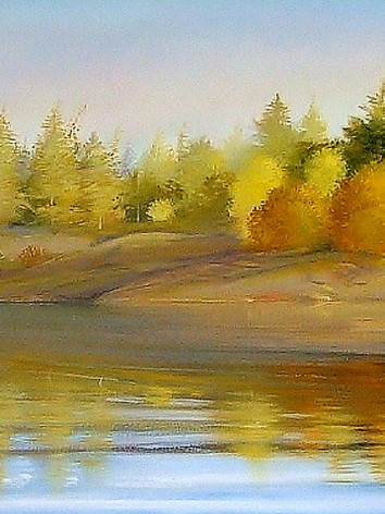 """""""Up North"""" Oil on Canvas, 29"""" x 96"""" 2011"""